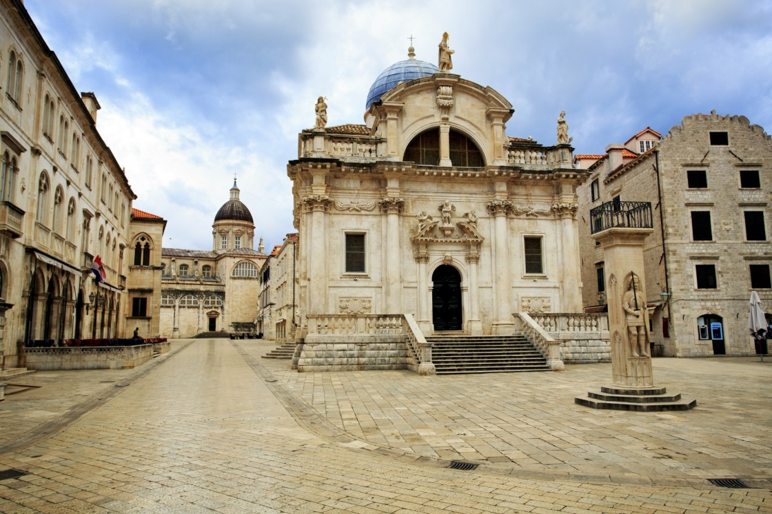Church of St Blaise in Dubrovnik at dawn