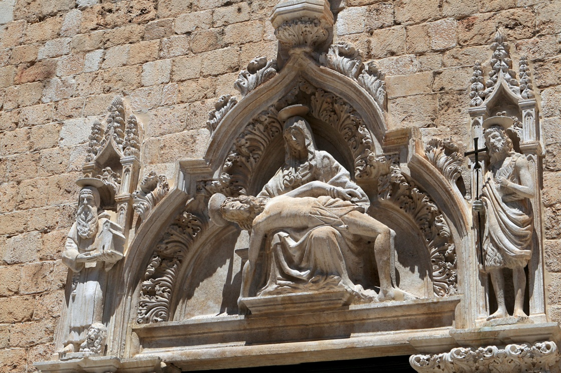 'The Franciscan monastery sculpture in Dubrovnik' - Dubrovnik
